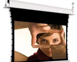 Adeo Inceel Tensio Classic Натяжной моторизованный проекционный экран для монтажа в потолок с шириной полотна 145 – 265 см