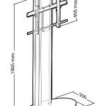 Стойка Erard с основанием и крепления для одного дисплея, максимальная высота до 180 см.