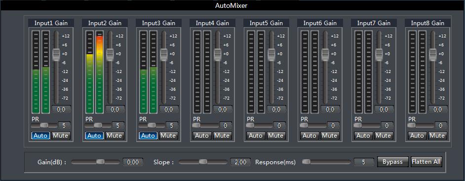 Рис. 4. Автомикшер цифрового звукового процессора TendZone.
