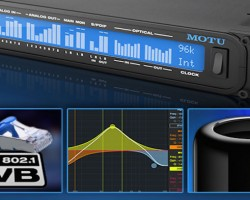 Интерфейсы MOTU поддерживают AVB/TSN