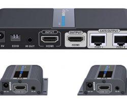 Lenkeng LKV712Pro – Разветвитель-удлинитель 1*2 HDMI, ИК, CAT6, до 40 метров