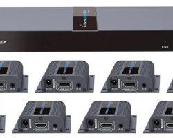 Lenkeng LKV718Pro – Разветвитель-удлинитель 1*8 HDMI, ИК, CAT6, до 40 метров